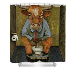 Bull Shitter Shower Curtain