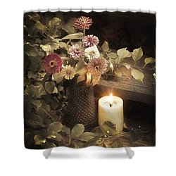 Shower Curtain featuring the photograph By Candle Light by Robin-Lee Vieira