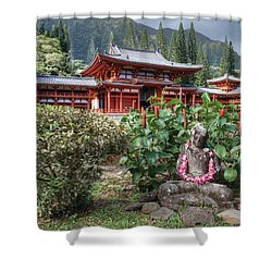 Byodo-in Shower Curtain