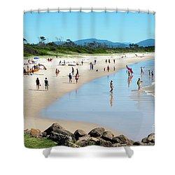 Byron Bay Main Beach Shower Curtain