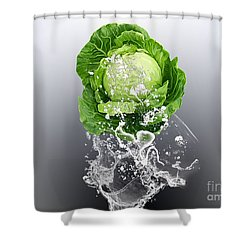 Cabbage Splash Shower Curtain by Marvin Blaine