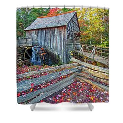 Cable Mill Shower Curtain by Geraldine DeBoer