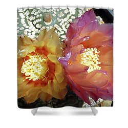 Cactus Flower 3 Shower Curtain by Selena Boron