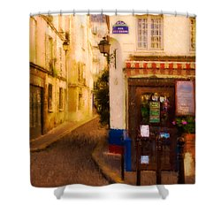 Cafe On The Rue Des Ursins Shower Curtain