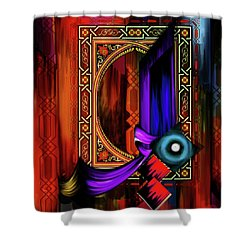 Shower Curtain featuring the painting Calligraphy 100 2 by Mawra Tahreem