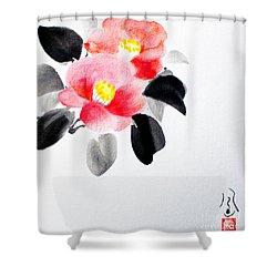 Camellia / Tsubaki Shower Curtain