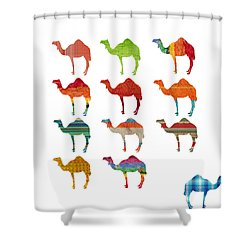 Camels Shower Curtain by Art Spectrum
