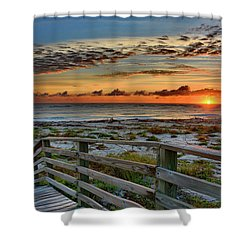 Canaveral Sunrise Shower Curtain