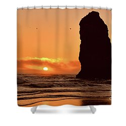 Cannon Beach Sunset Shower Curtain