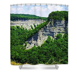 Shower Curtain featuring the photograph Canyon  by Raymond Earley