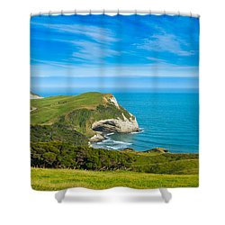 Cape Farewell Able Tasman National Park Shower Curtain by Ulrich Schade