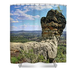 Capska Cudgel - Rock Formation Shower Curtain by Michal Boubin
