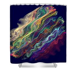 Captive Waves Shower Curtain