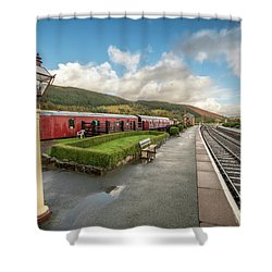 Shower Curtain featuring the photograph Carrog Railway Station by Adrian Evans