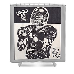 Shower Curtain featuring the drawing Carson Palmer 1 by Jeremiah Colley