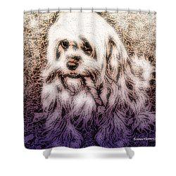 Cassie Girl Shower Curtain by Robert Orinski