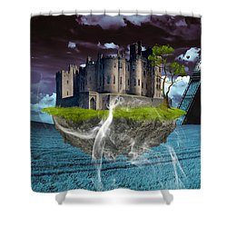 Castle In The Sky Art Shower Curtain by Marvin Blaine