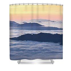 Cataloochee Valley Sunrise Shower Curtain