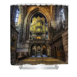 Cathedral Organ Shower Curtain