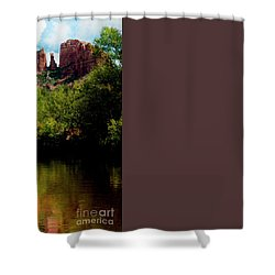 Shower Curtain featuring the photograph Cathedral Rock by Ivete Basso Photography