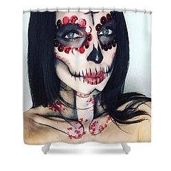 Catrina Dia De Los Muertos Shower Curtain