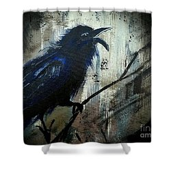 Cawing The Storm Shower Curtain by Scott D Van Osdol