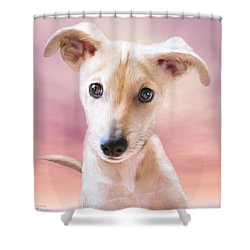 Shower Curtain featuring the mixed media Ceecee by Carol Cavalaris