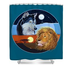 Celestial Kings Circular Shower Curtain