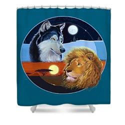 Celestial Kings Circular Shower Curtain