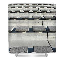 Cement Seats Shower Curtain by Gaspar Avila