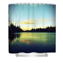 Center Of Peace Shower Curtain