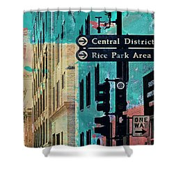 Shower Curtain featuring the photograph Central District by Susan Stone
