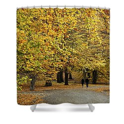 Central Park Gold Shower Curtain