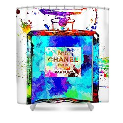 Chanel No. 5 Grunge Shower Curtain