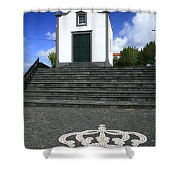Chapel In The Azores Shower Curtain by Gaspar Avila
