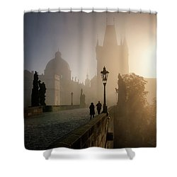 Charles Bridge, Prague, Czech Republic Shower Curtain