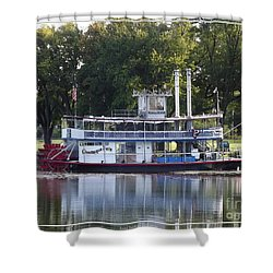 Chautauqua Belle On Lake Chautauqua Shower Curtain by Rose Santuci-Sofranko