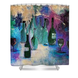Cheers Shower Curtain by Lisa Kaiser