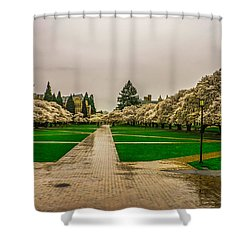 Shower Curtain featuring the photograph Cherry Blossoms by Jerry Cahill