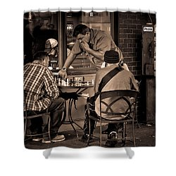 Shower Curtain featuring the photograph Chess Game by Erin Kohlenberg