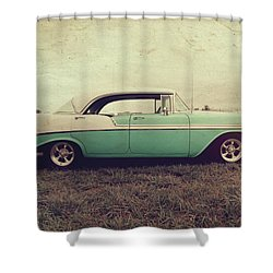 Shower Curtain featuring the photograph Chevy Bel Air by Joel Witmeyer
