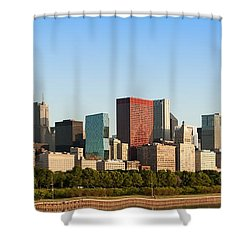 Chicago Downtown At Sunrise Shower Curtain