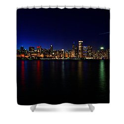 Chicago-skyline 3 Shower Curtain