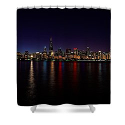 Chicago-skyline Shower Curtain