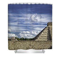 Chichen Itza, El Castillo Pyramid Shower Curtain