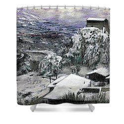 Chiesa San Vito In The Snow Shower Curtain
