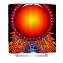 Shower Curtain featuring the digital art Children Of The Sun by Robert Orinski