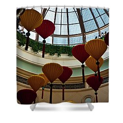 Chinese Lanterns Shower Curtain by Rae Tucker