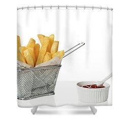 Chips With Tomato Sauce Shower Curtain