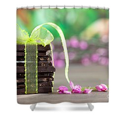 Chocolate Shower Curtain by Nailia Schwarz